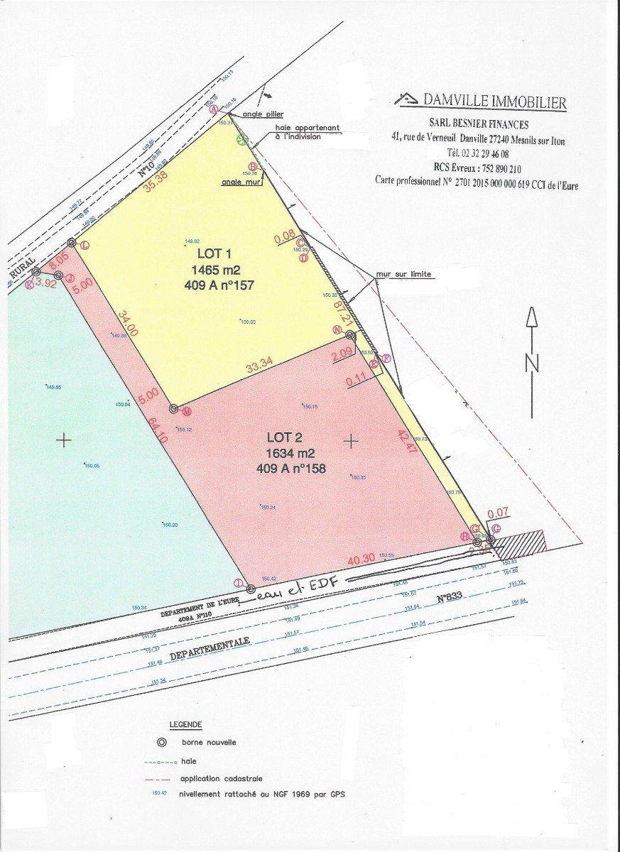 Sale Plot of land - Damville