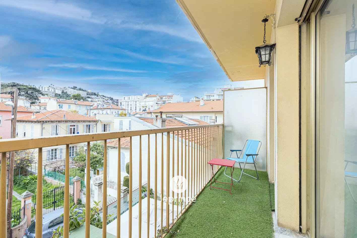 Nice Evêché / Libération  - Large Studio with a beautiful Balcony Unobstructed View in a totally Quiet Environment