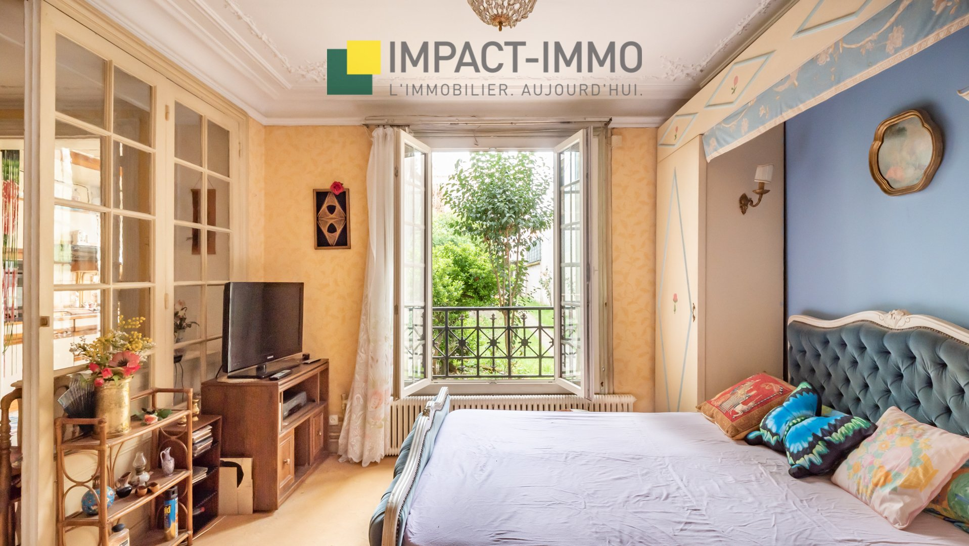 Asnières sur Seine - Quartier BAC -  2 pièces à rénover / Jardin