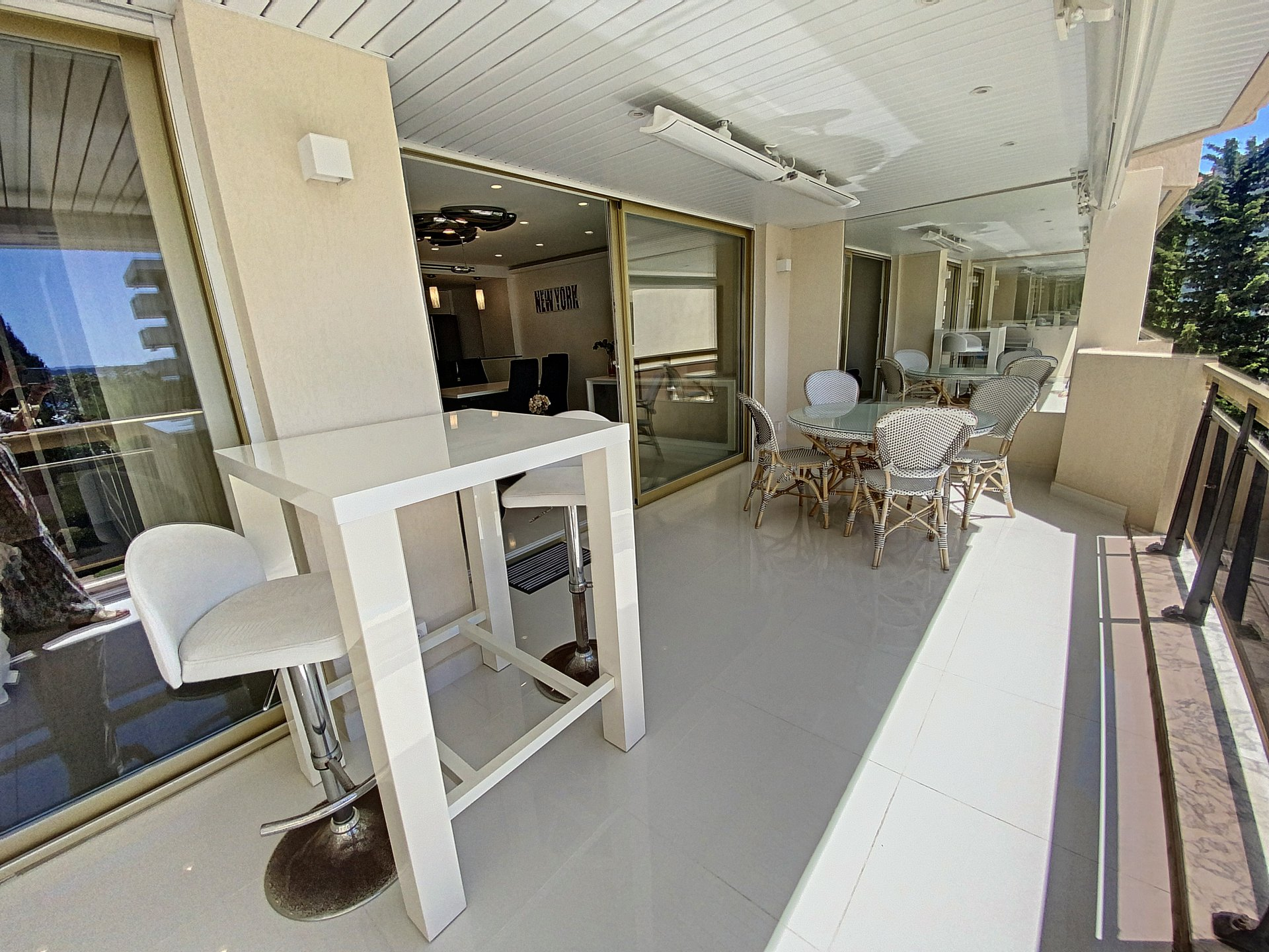 cannes Palm beach 4 p renovated sea view