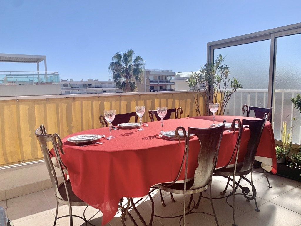 Cannes Palm Beach - 3 pièces Dernier étage Terrasse et Parking
