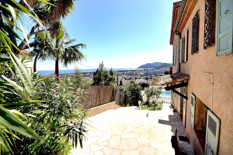 Villa med havsutsikt i Mandelieu