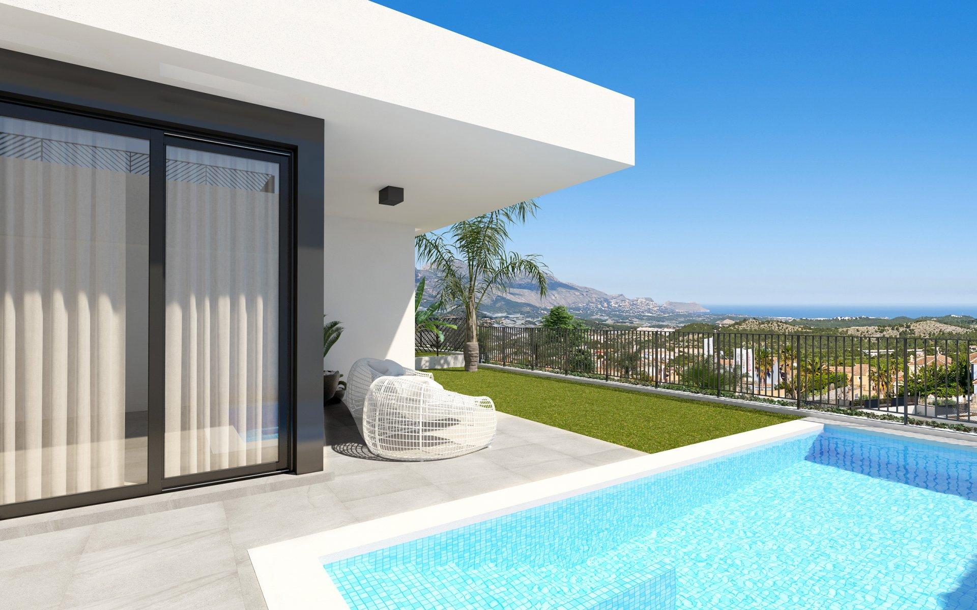 Gelijkvloerse villa met mooi uitzicht