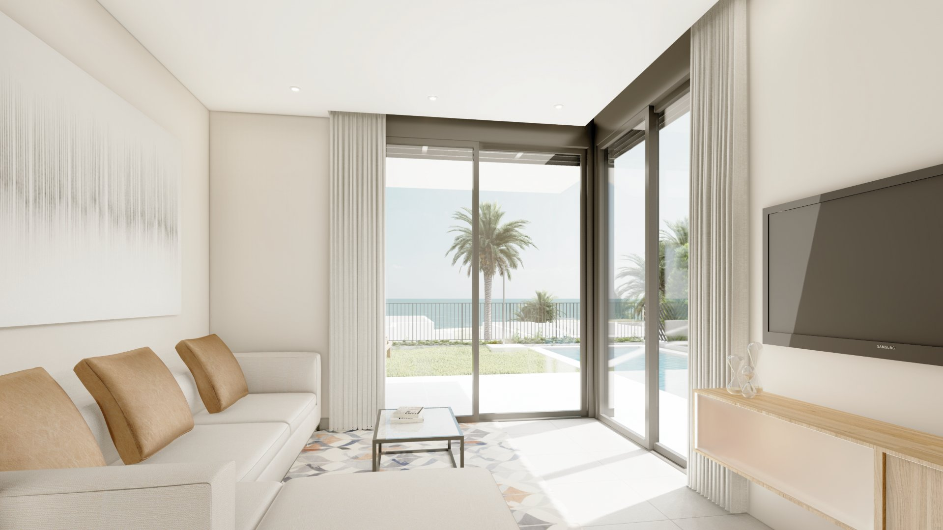 Villa sur deux étages avec de belles vues