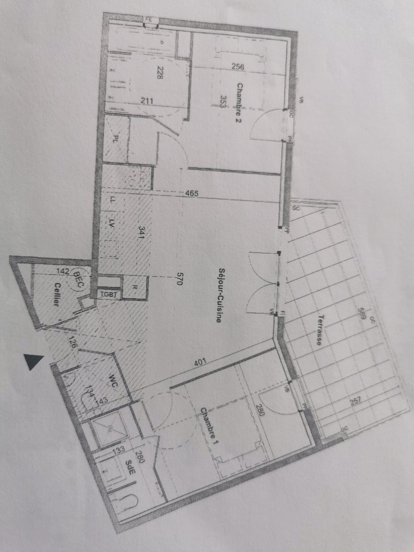SAINTE MAXIME, appart neuf de 60 m² habitable type 3 , terrasse et parking privé