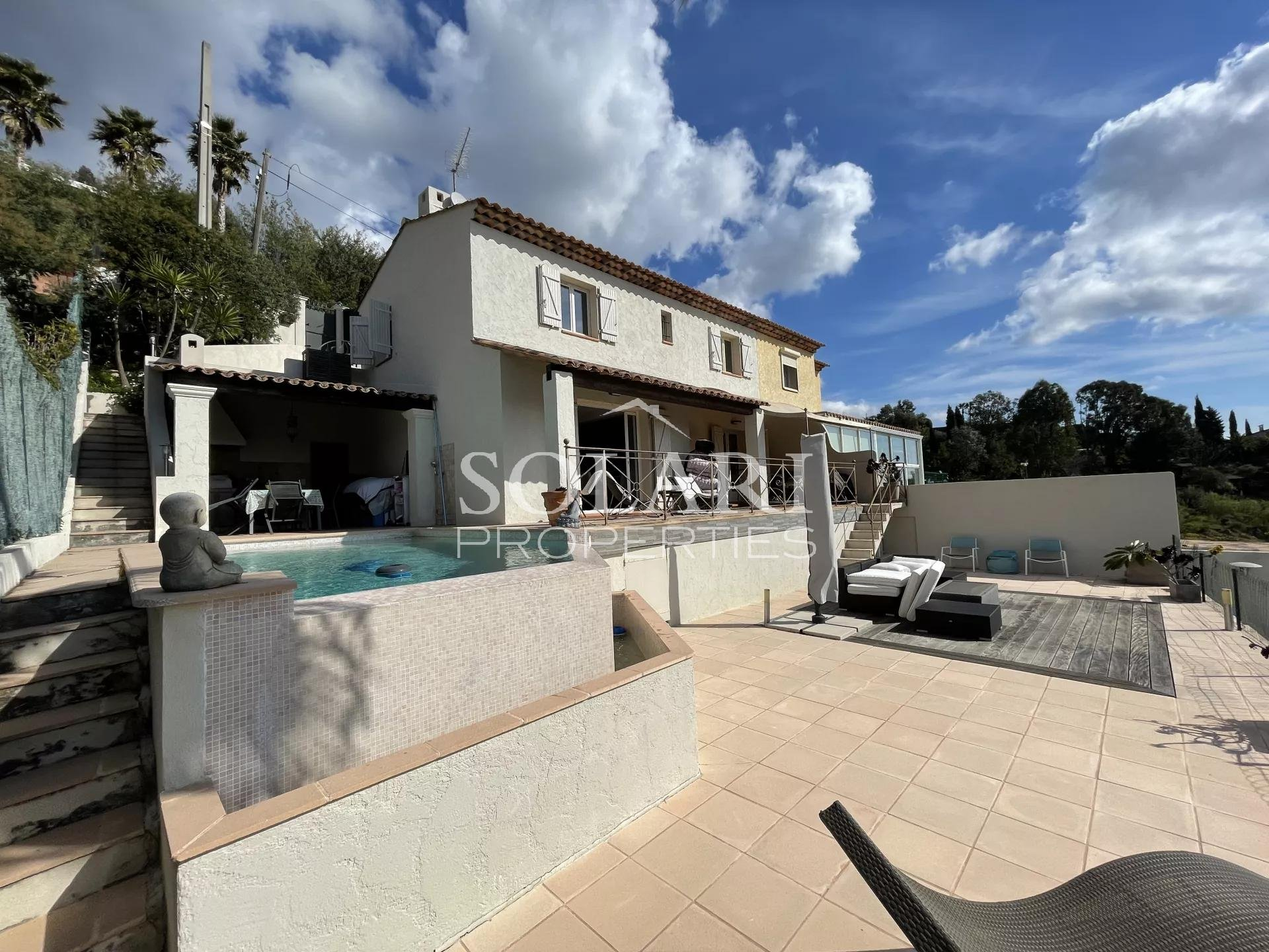 Villa on the hills of Mandelieu