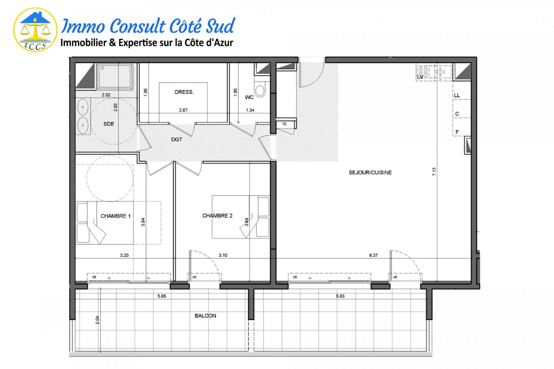 Bel appartement T3 avec terrasse et deux garages - Cimiez