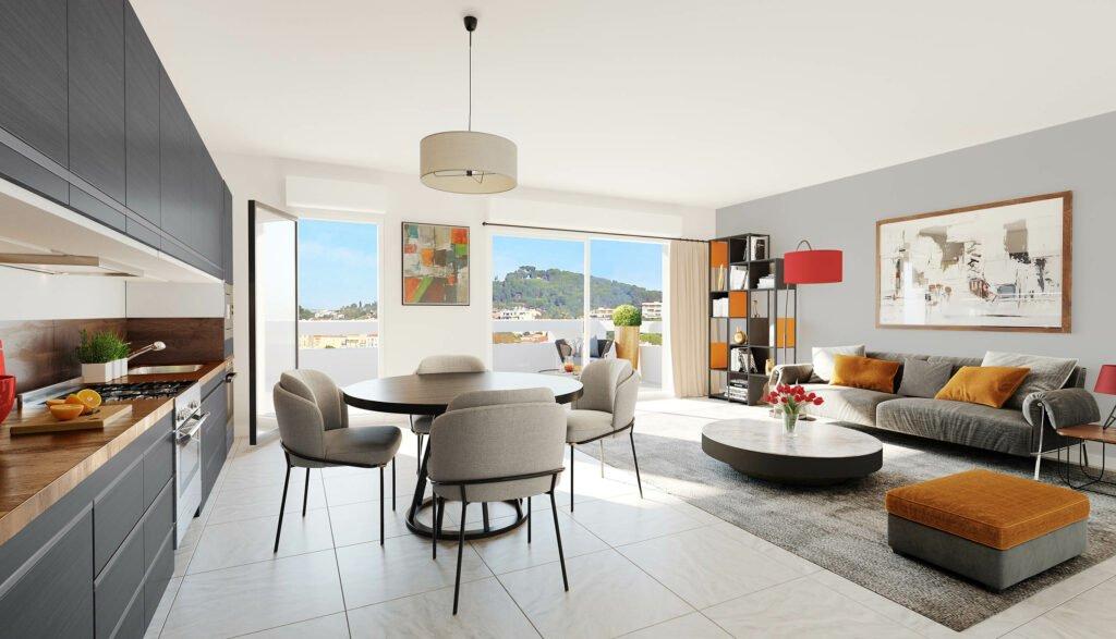 Beau Studio en Rez-de-jardin, terrasse et parking - Le Cannet