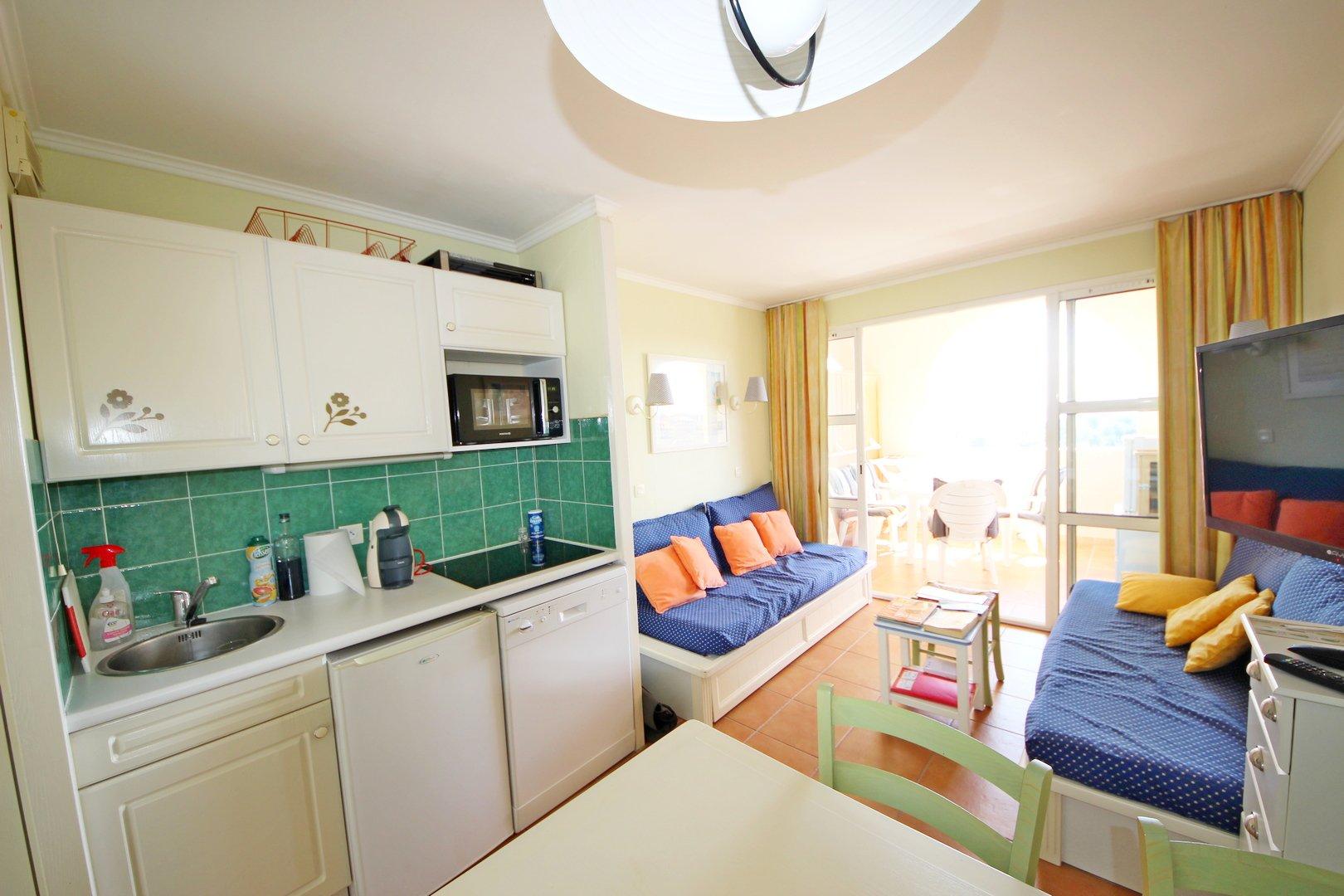 Agay Cap Esterel le Village à vendre appartement 2 pièces vue mer