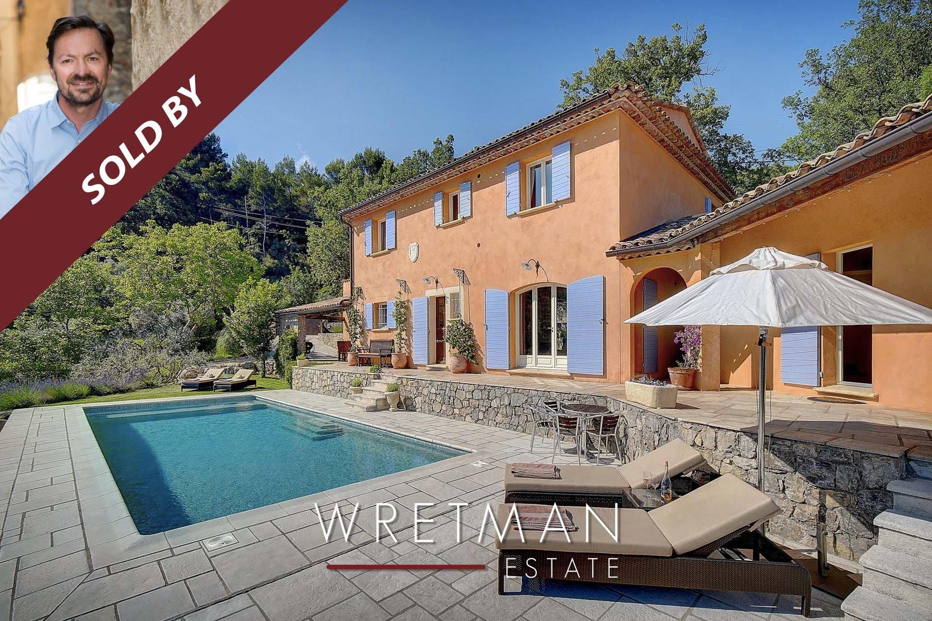 Provencalsk villa med utsikt - Seillans