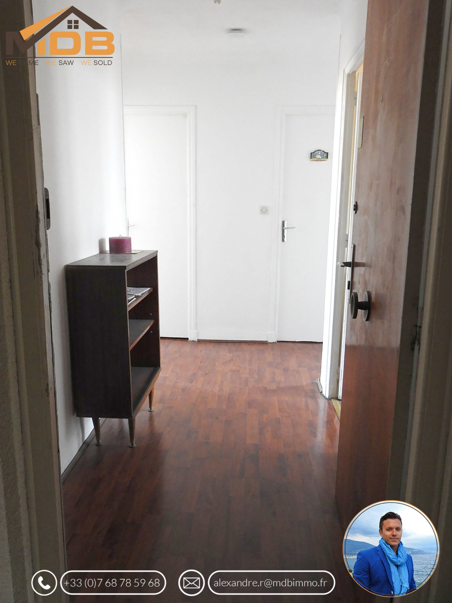 ROQUEBRUNE-CAP-MARTIN - Quartier Carnolès - APPARTEMENT 2P - 42.54m²
