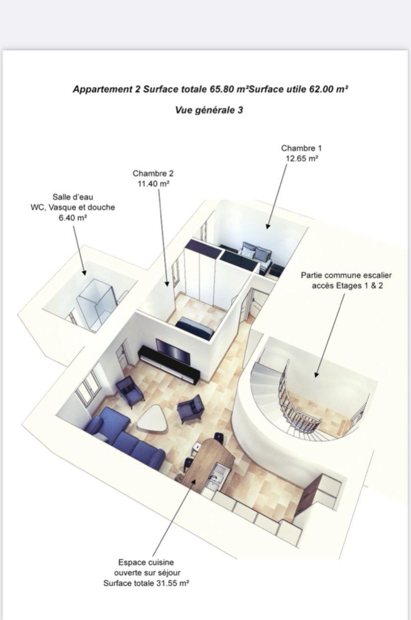 Appartement  - 3 pièces - Tourrettes