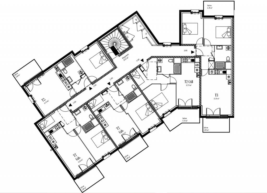 Appartement T2 Cabine 1er Etage