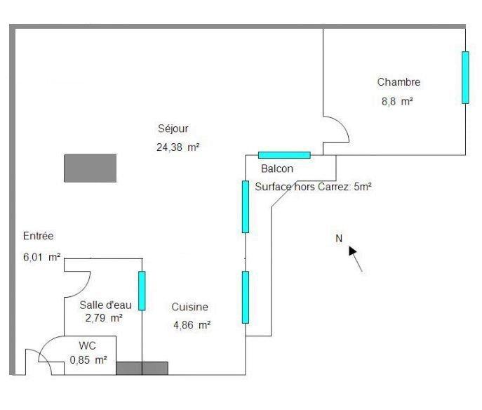 Quartier église Russe 2P + balcon + cave