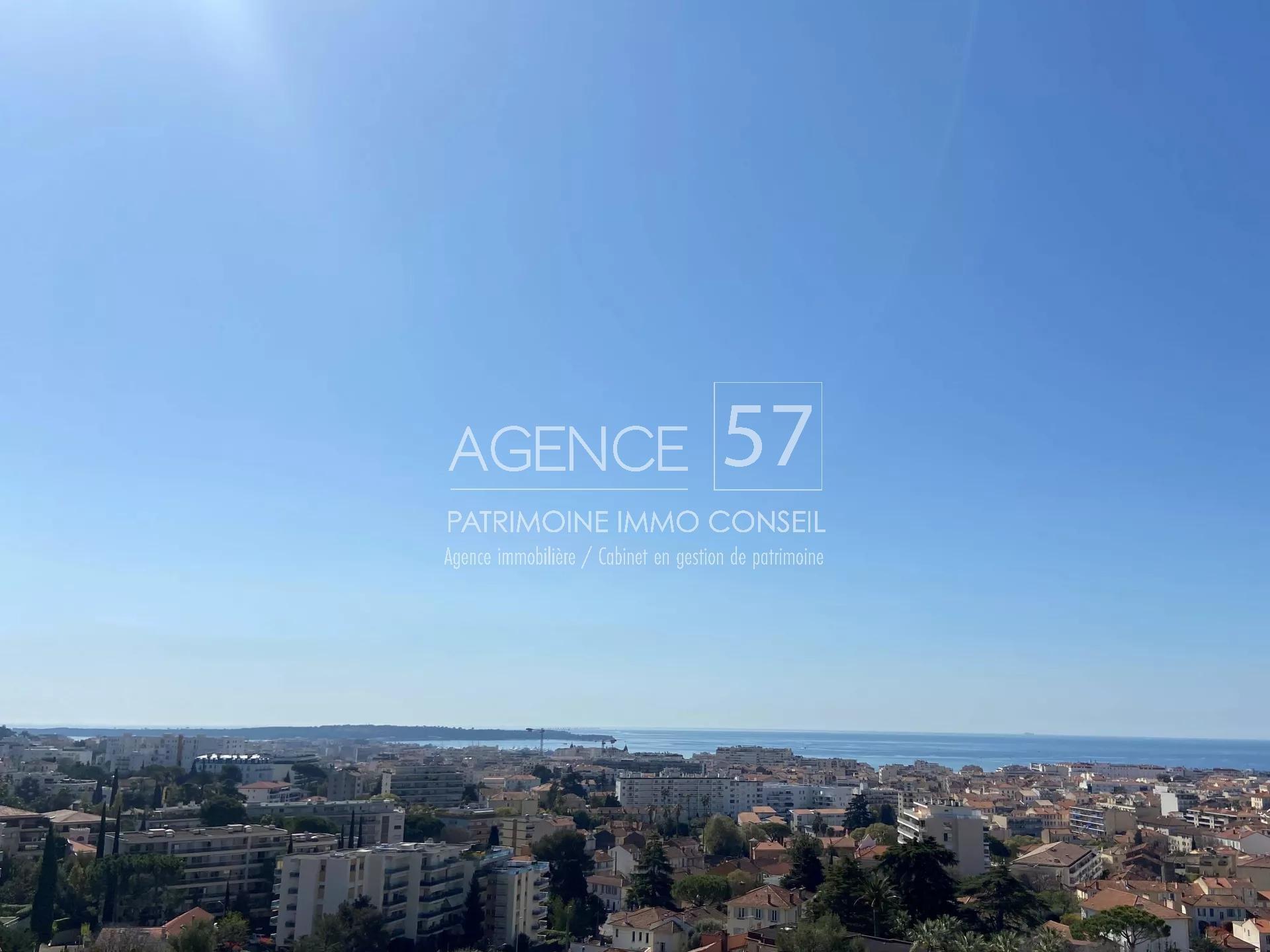CANNES MONTROSE - 5P bourgeois vue mer et collines panoramique