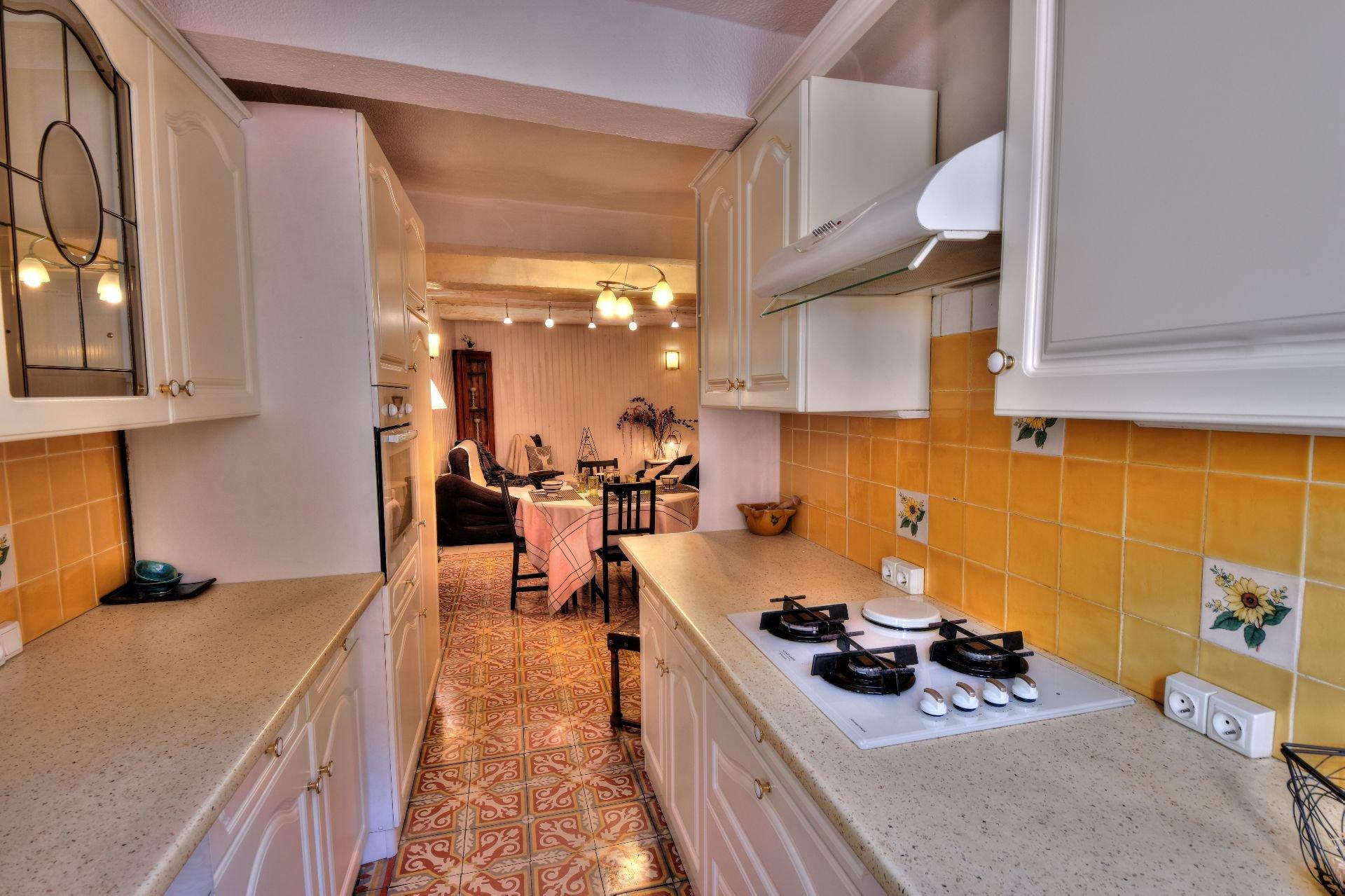 Cuisine de la maison de village 3 chambres, Var, Provence, Verdon