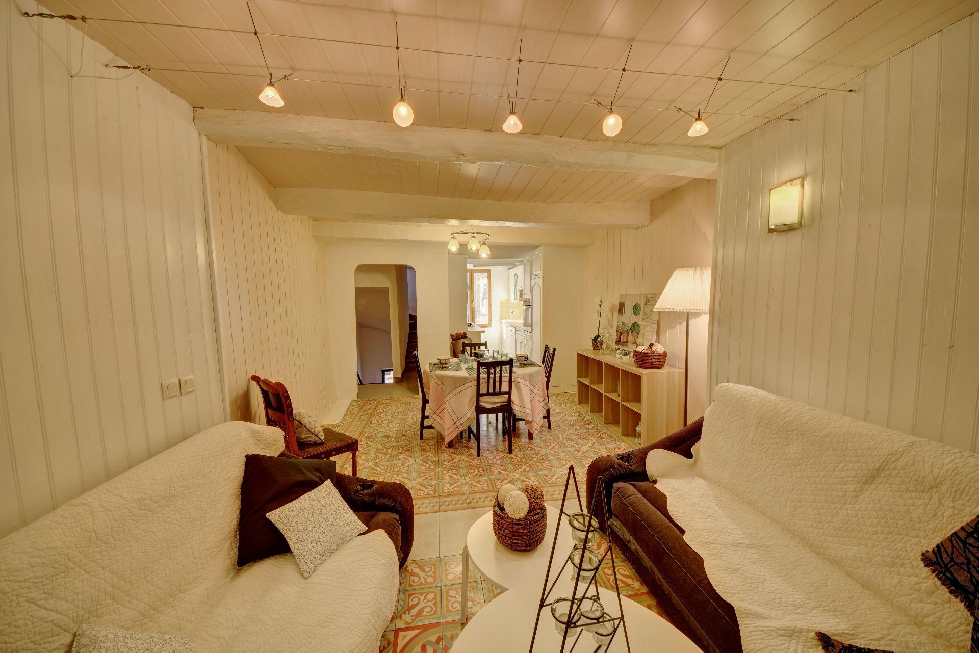 Living de la maison de village 3 chambres, Var, Provence, Verdon