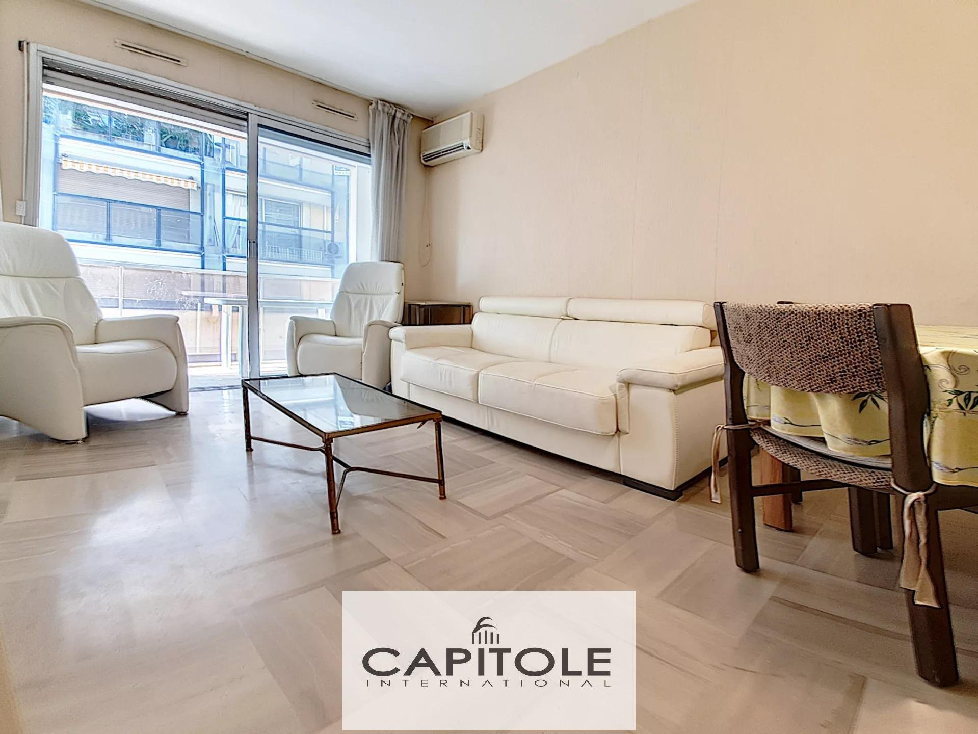 For sale, Antibes town center SOLE AGENT PROPERTY,  1 bedroom apartment, 43m², terrace, cellar