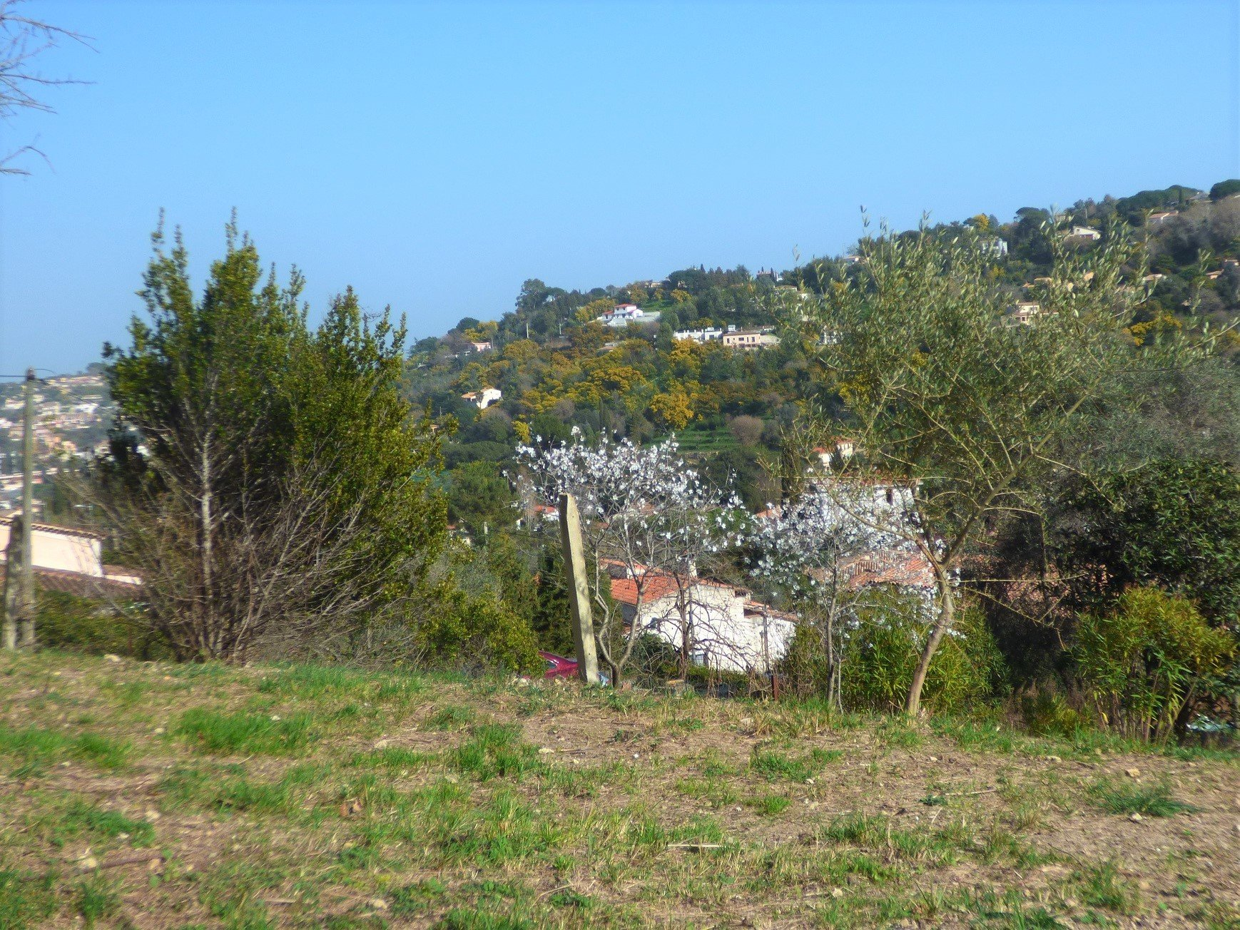 Vallauris, in the alpes maritimes, beautiful land