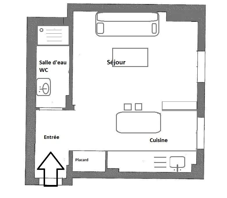 MAISON BLANCHE - Studio meublé