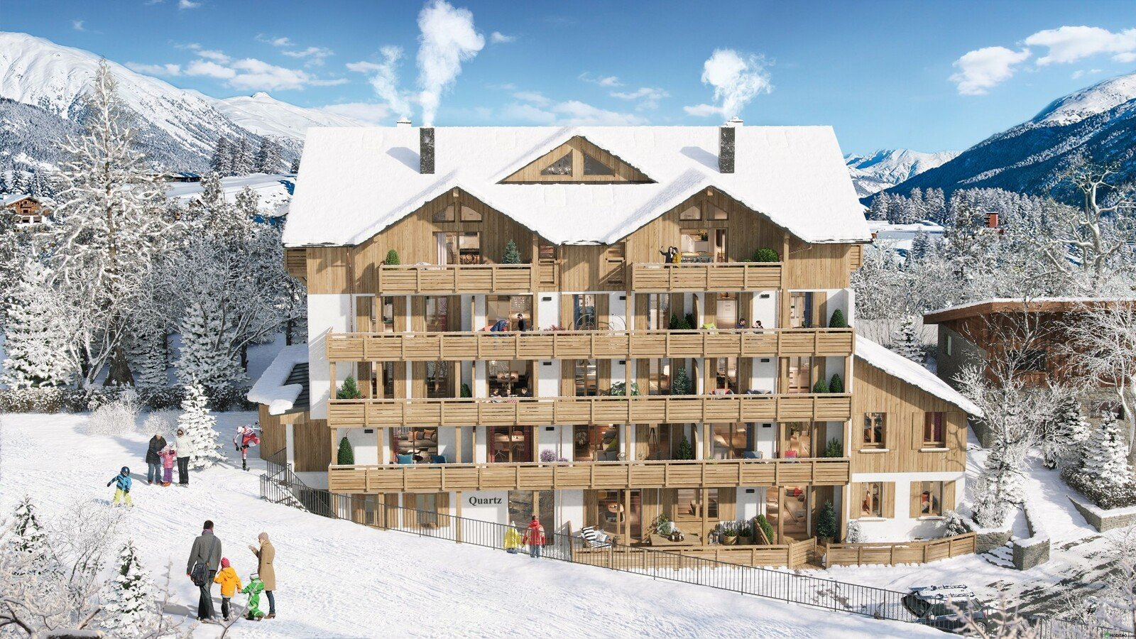 New development of apartments in the heart of L'Alpe d'Huez