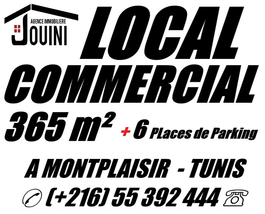 Local Commercial 365 m2 A Montplaisir Tunis
