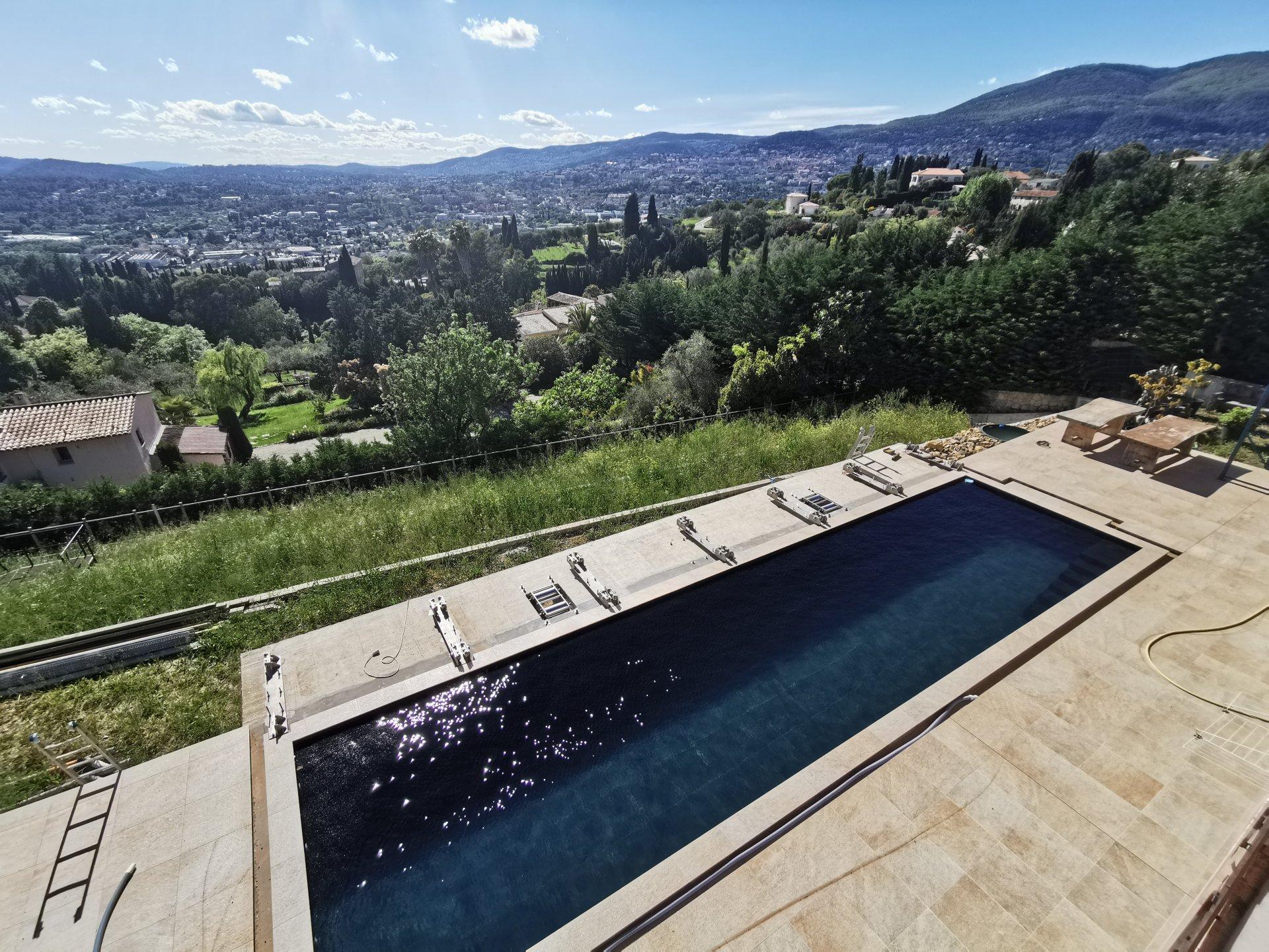 Co-exclusivité - Plascassier - Villa neuve d'exception avec piscine et vue panoramique