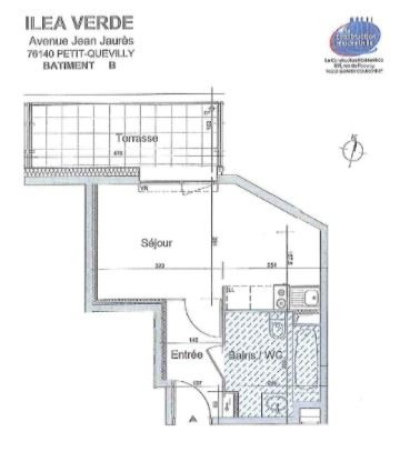Appartement T1 - Au pied du métro - Le Petit Quevilly