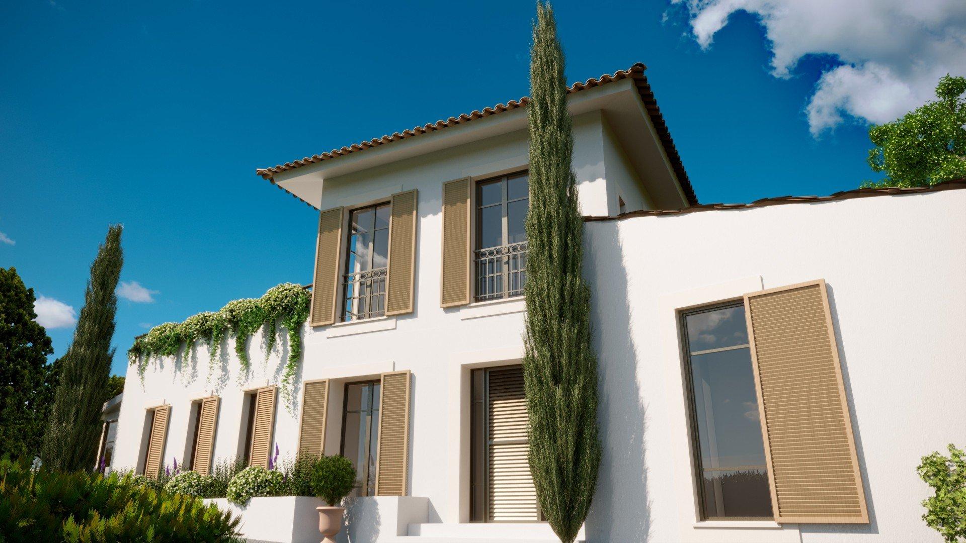 Belle villa en construction au sommet du Mont Boron, Nice