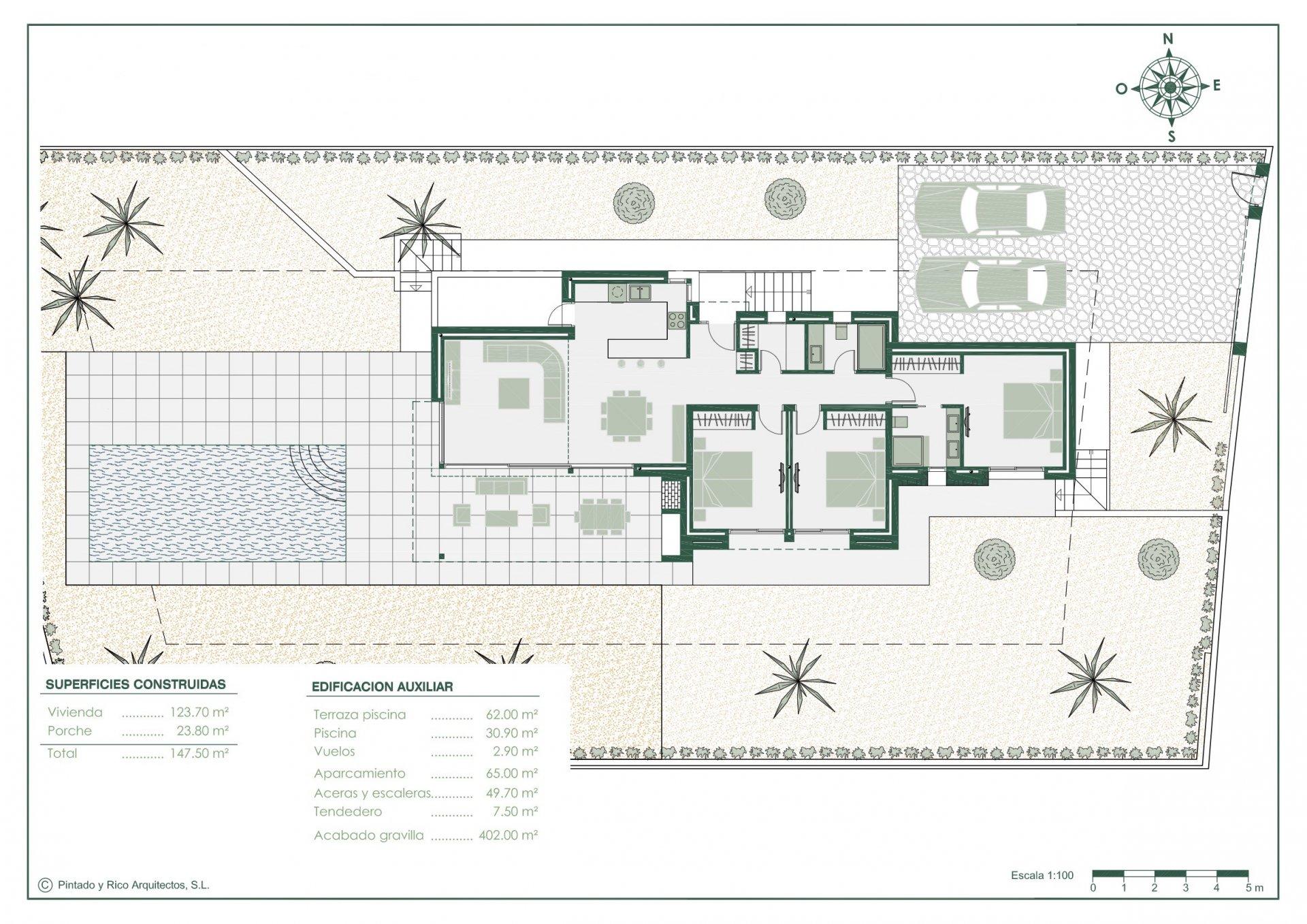 Nieuwbouw op één verdieping