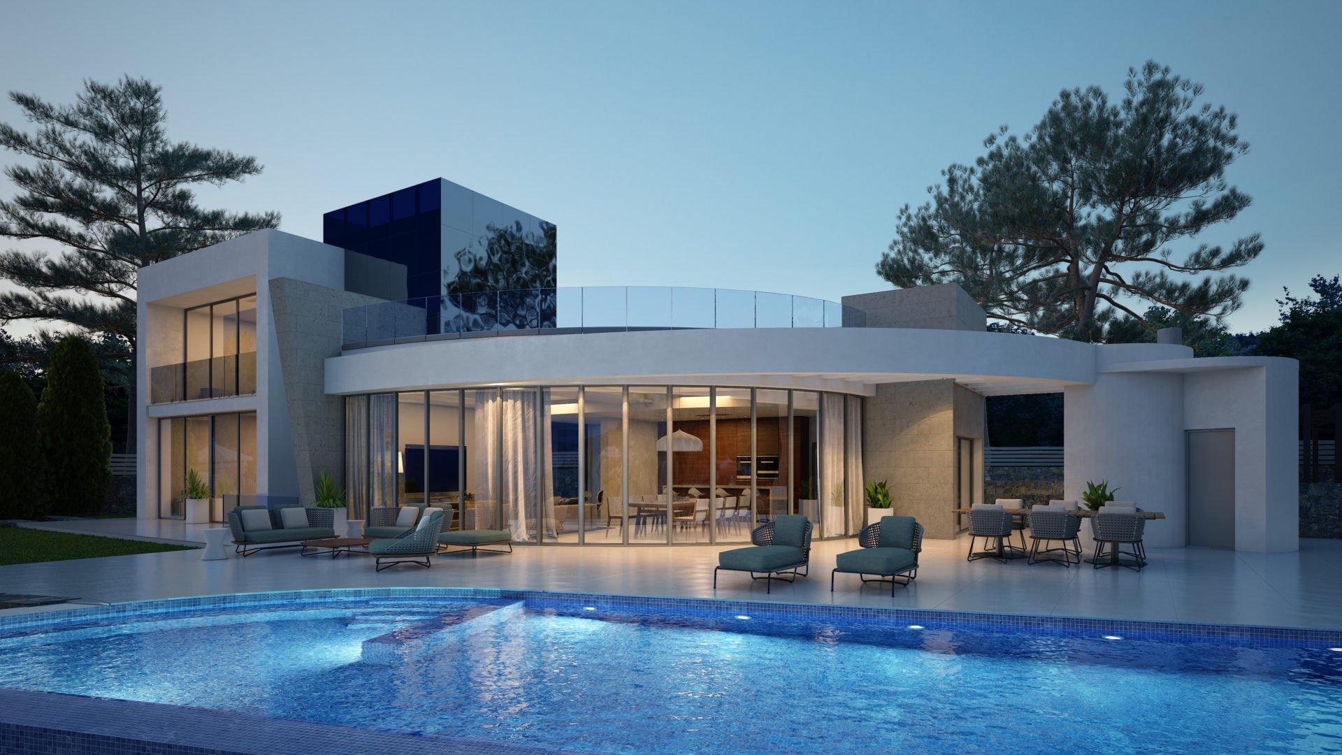 Villa neuve au design moderne à vendre à Javea