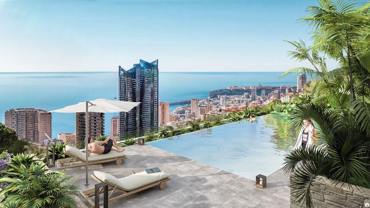 BEAUSOLEIL - Région PACA - Vente penthouse neuf d'exception - Vue mer - Piscine