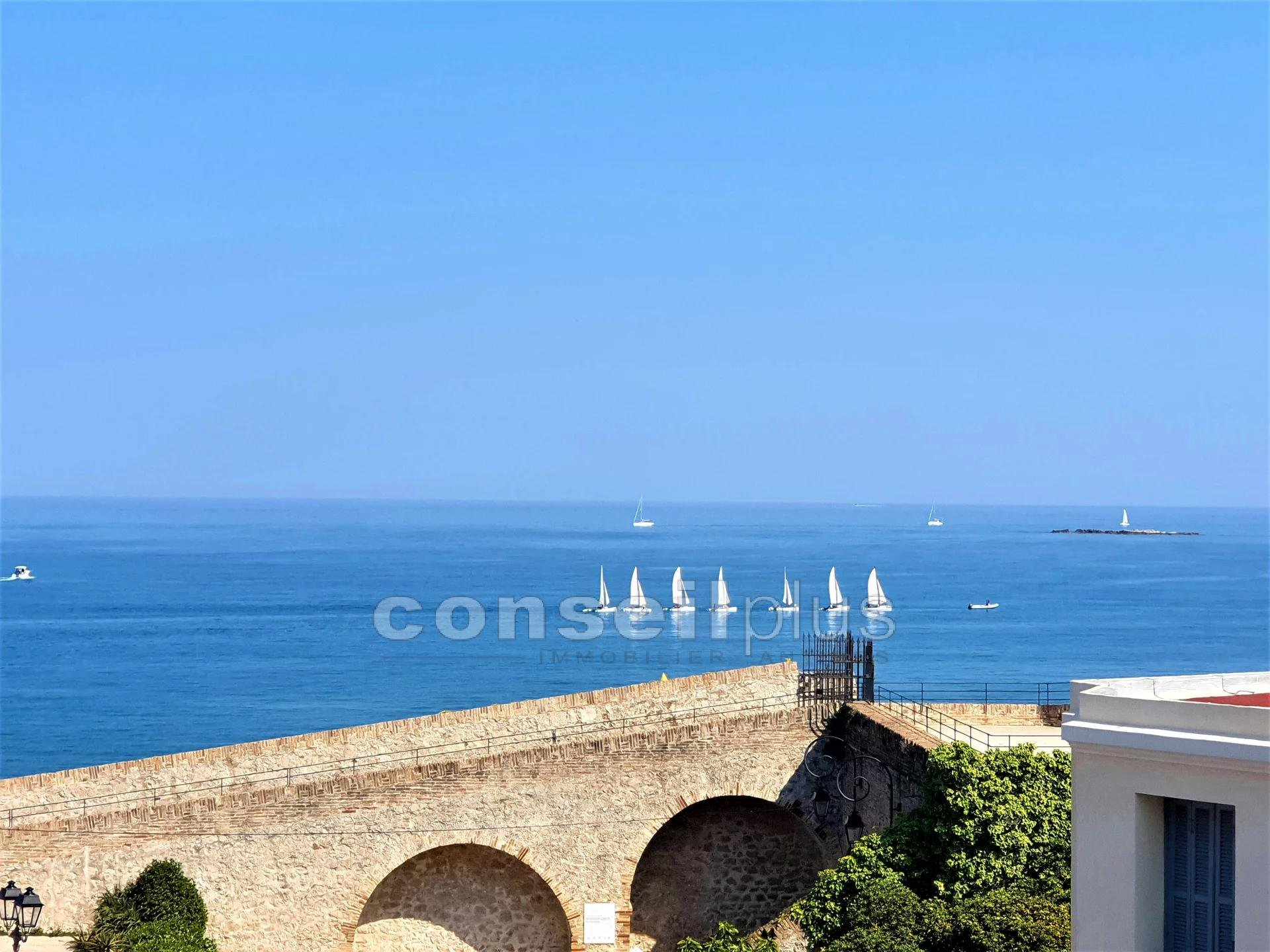 ANTIBES RAMPARTS 3 ROOMS SEA VIEW AND OLD ANTIBES