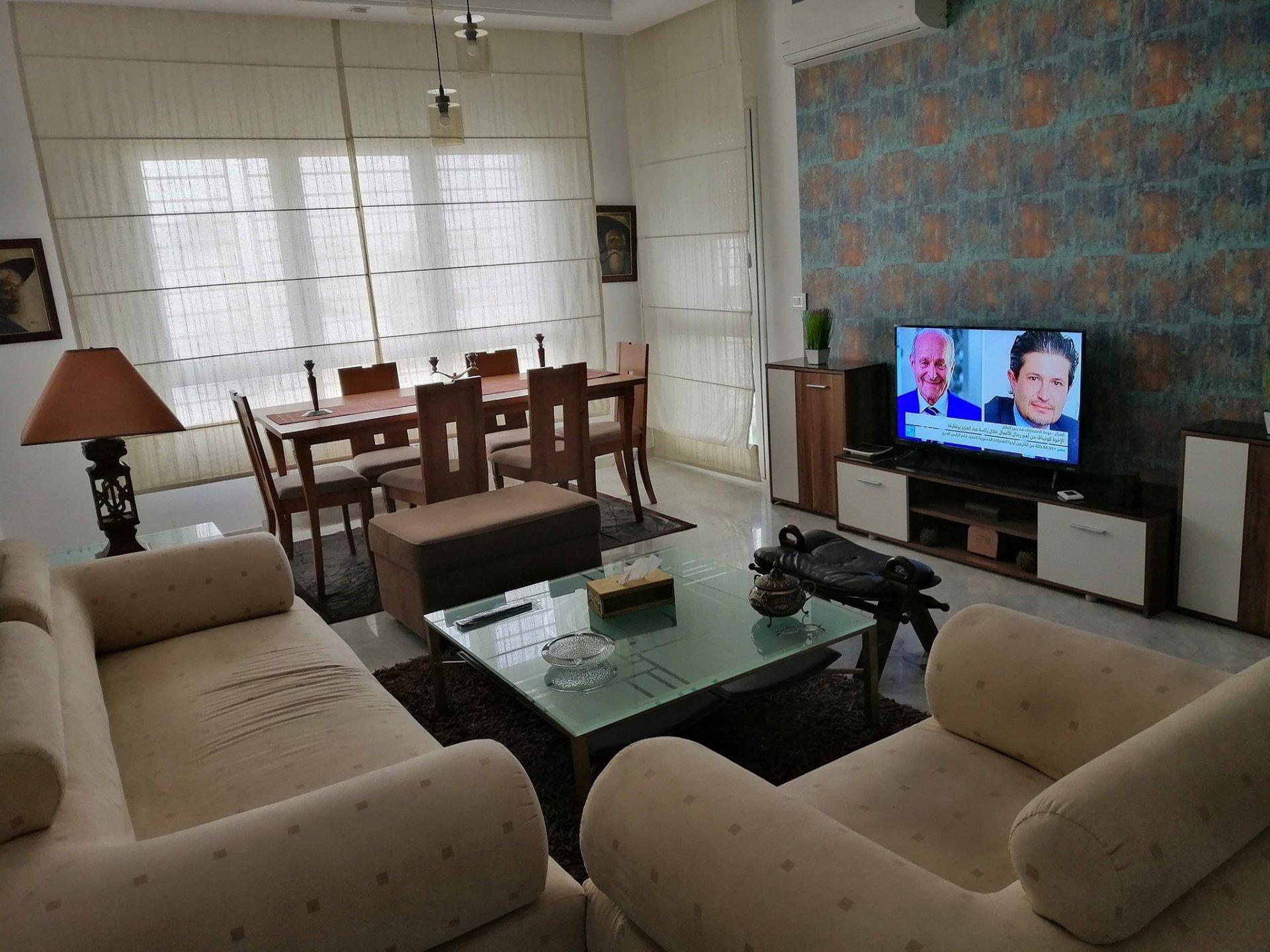 Location Appartement S+3 meublé à La Soukra