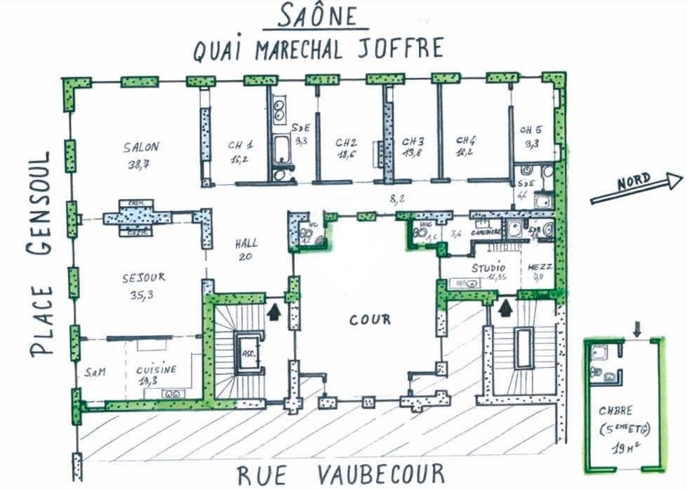 Sale Apartment - Lyon 2ème Ainay