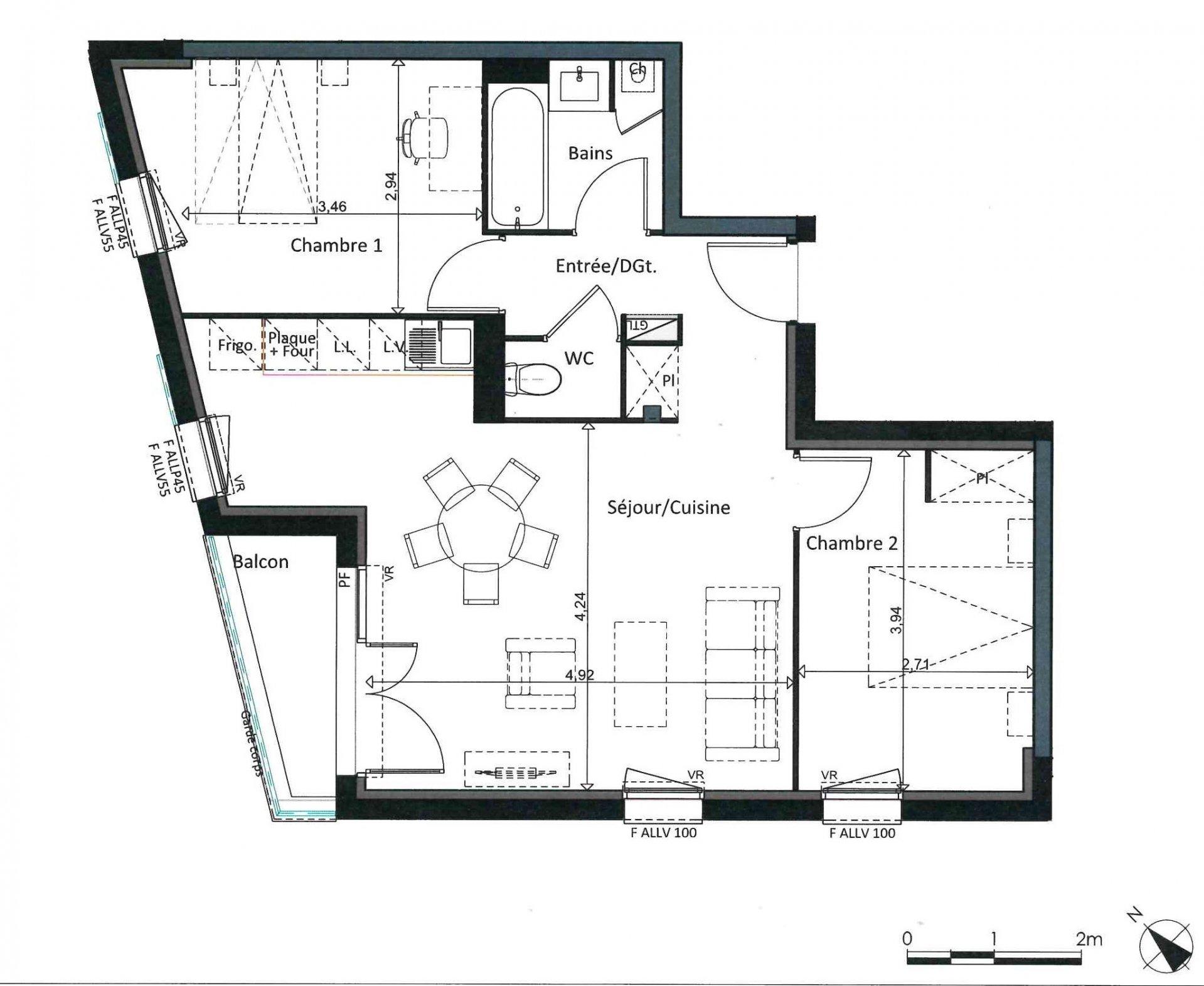 Appartement T3 - 59m² - 31100 TOULOUSE LARDENNE