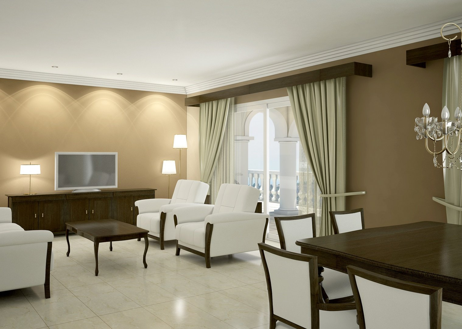 Maison de luxe avec des vues spectaculaires