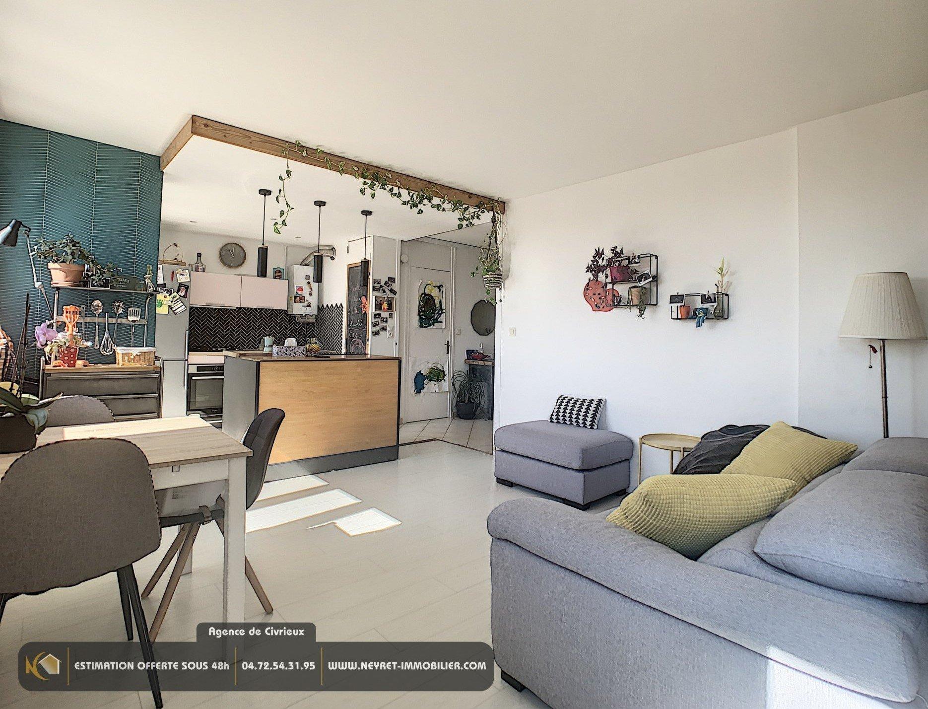 Appartement T3 DERNIER ETAGE 65 m²