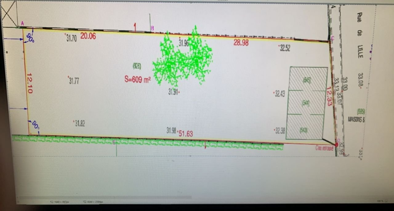 Terrain constructible 609m2 Sallaumines