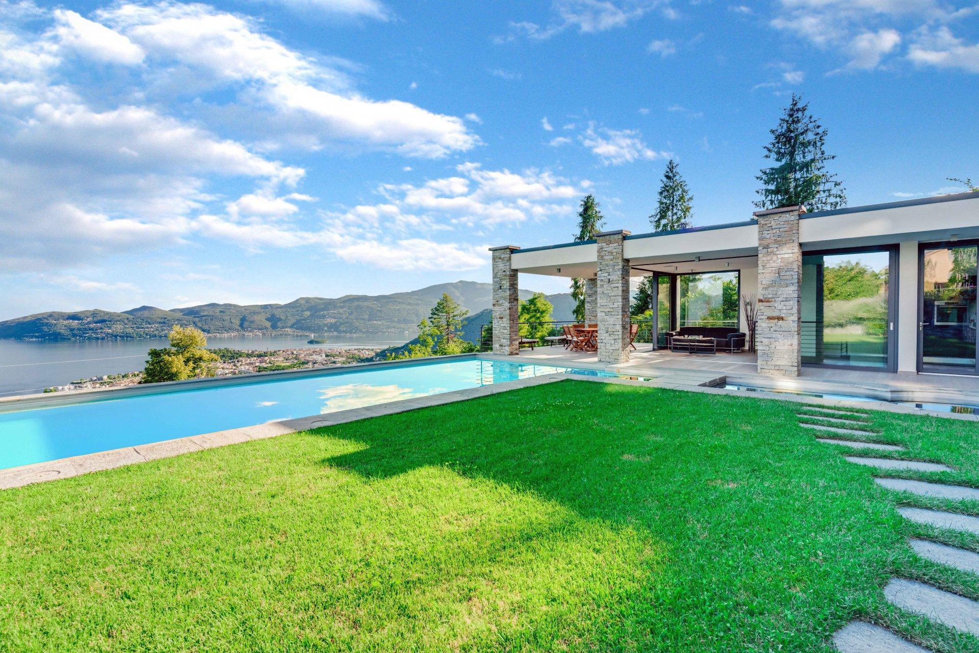 Elegante Villa Con Piscina Pool-House Sulla Collina Del Lago Maggiore