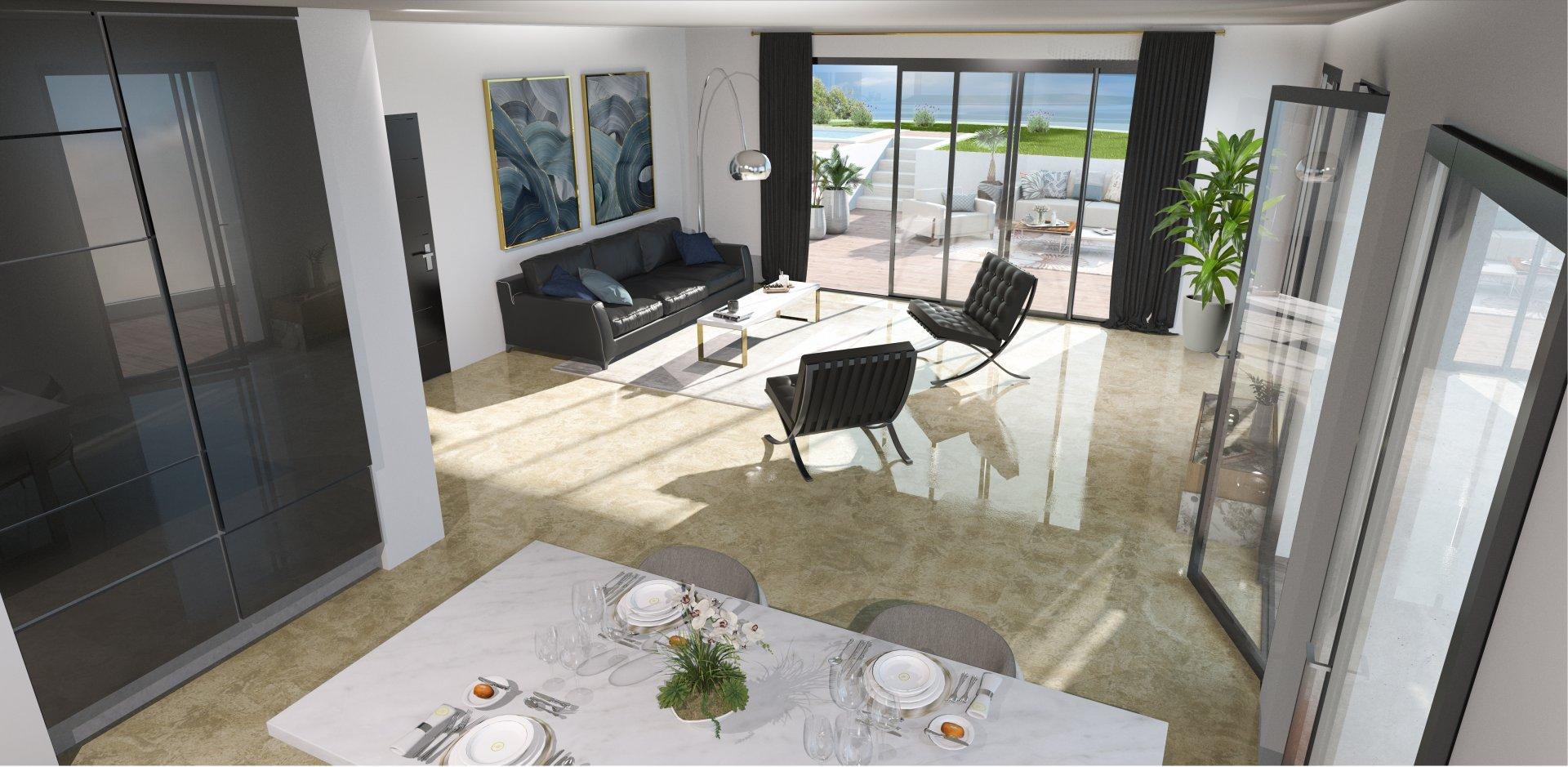 TRAVERSANT SUD -  Appartement T4 de 104,5m2 avec deux terrasses