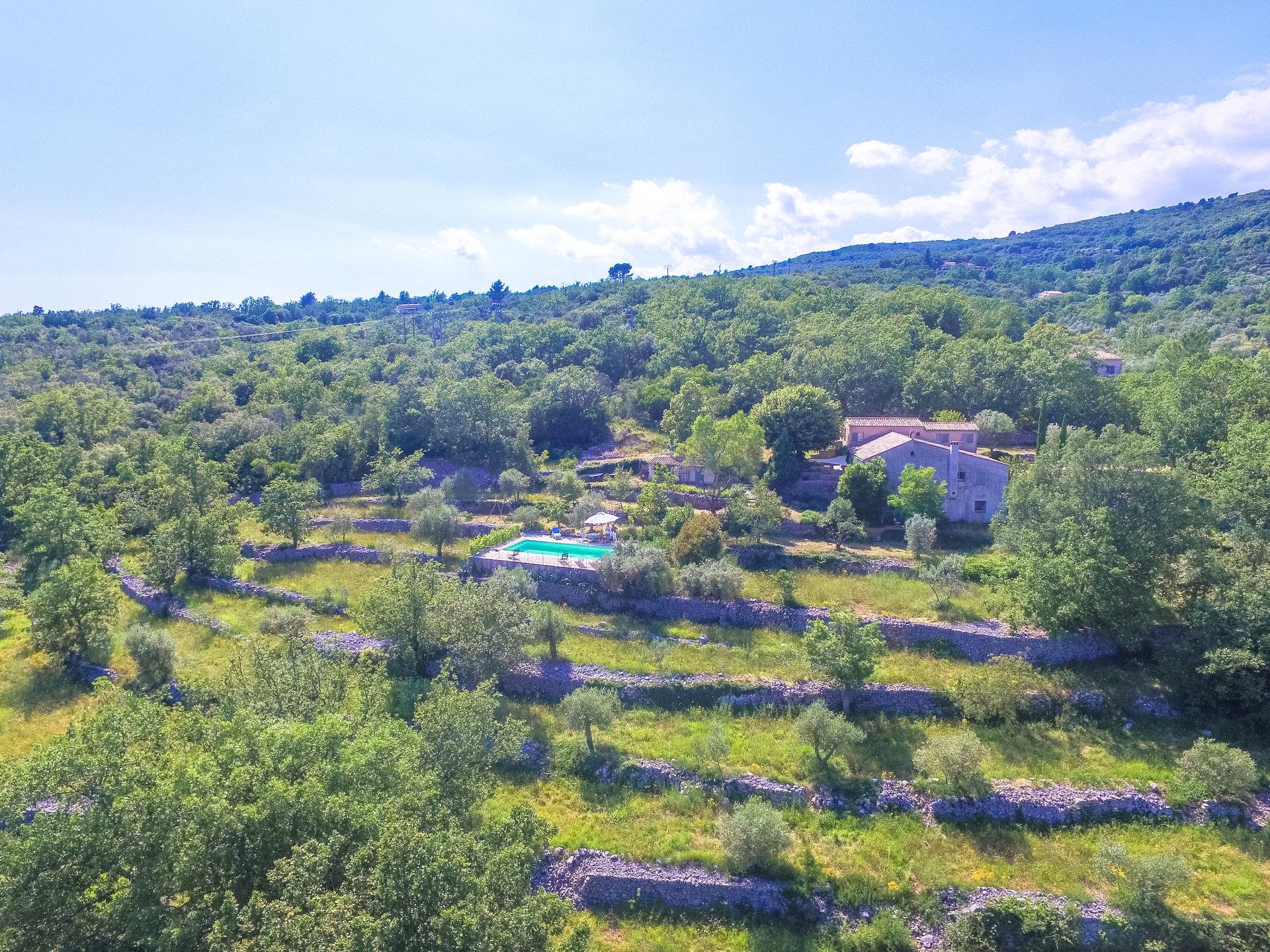 Pays de Fayence: Bastide uit 1858 met een panoramisch uitzicht