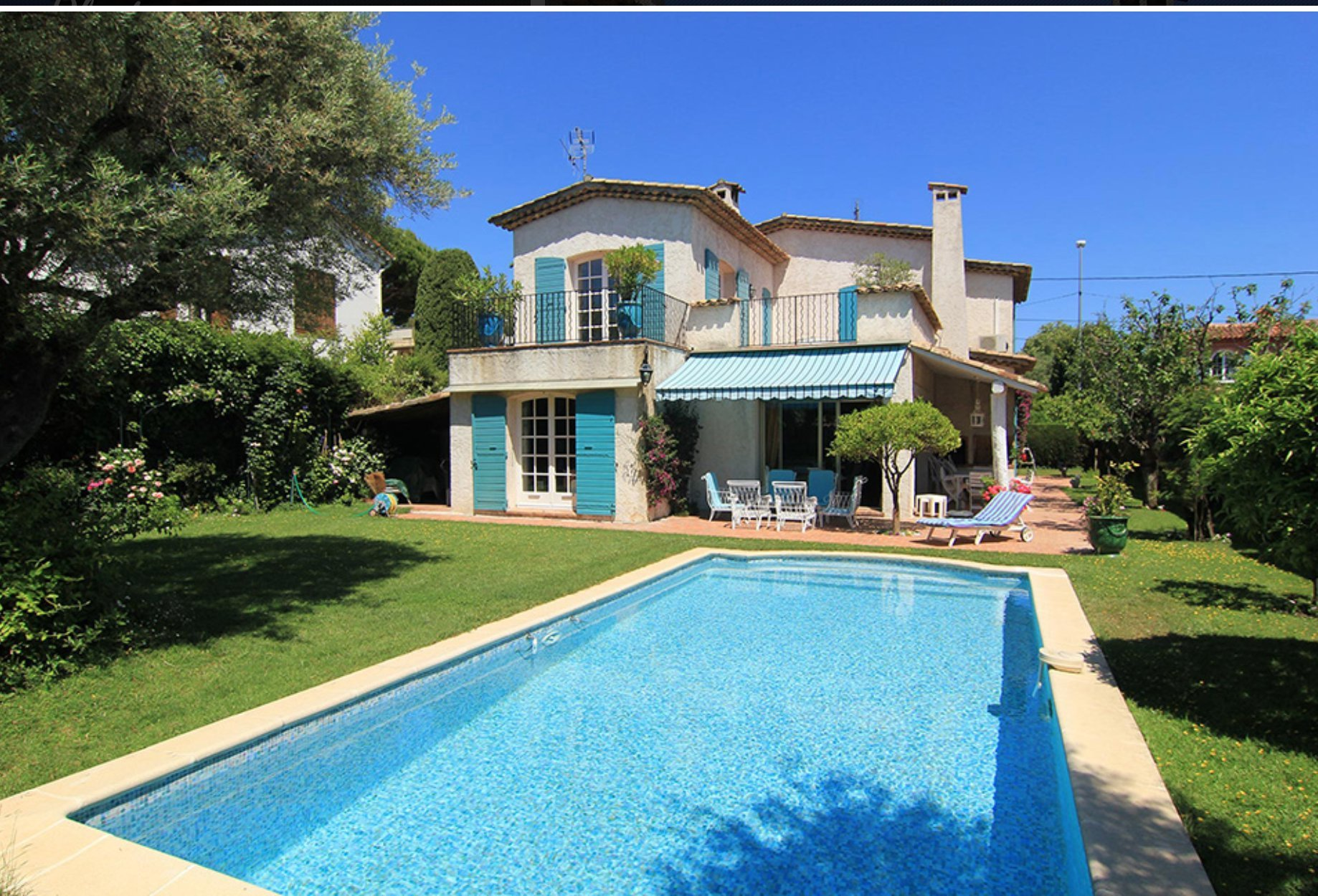 Charming villa with pool, 300 m from the Pinède and the sea in Juan-les-Pins