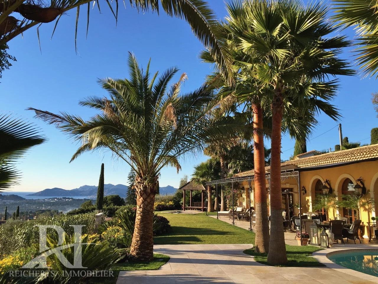 Sumptuous unique property close to Mougins  old village with breathtaking panoramic views