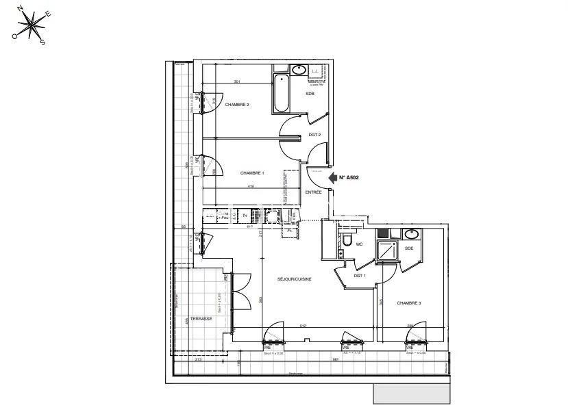 Vente de appartement d'une surface de 81.7 m2