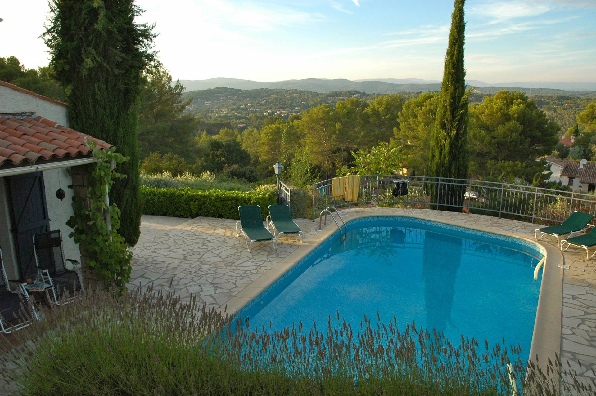 Large villa with pool near Trans en Provence