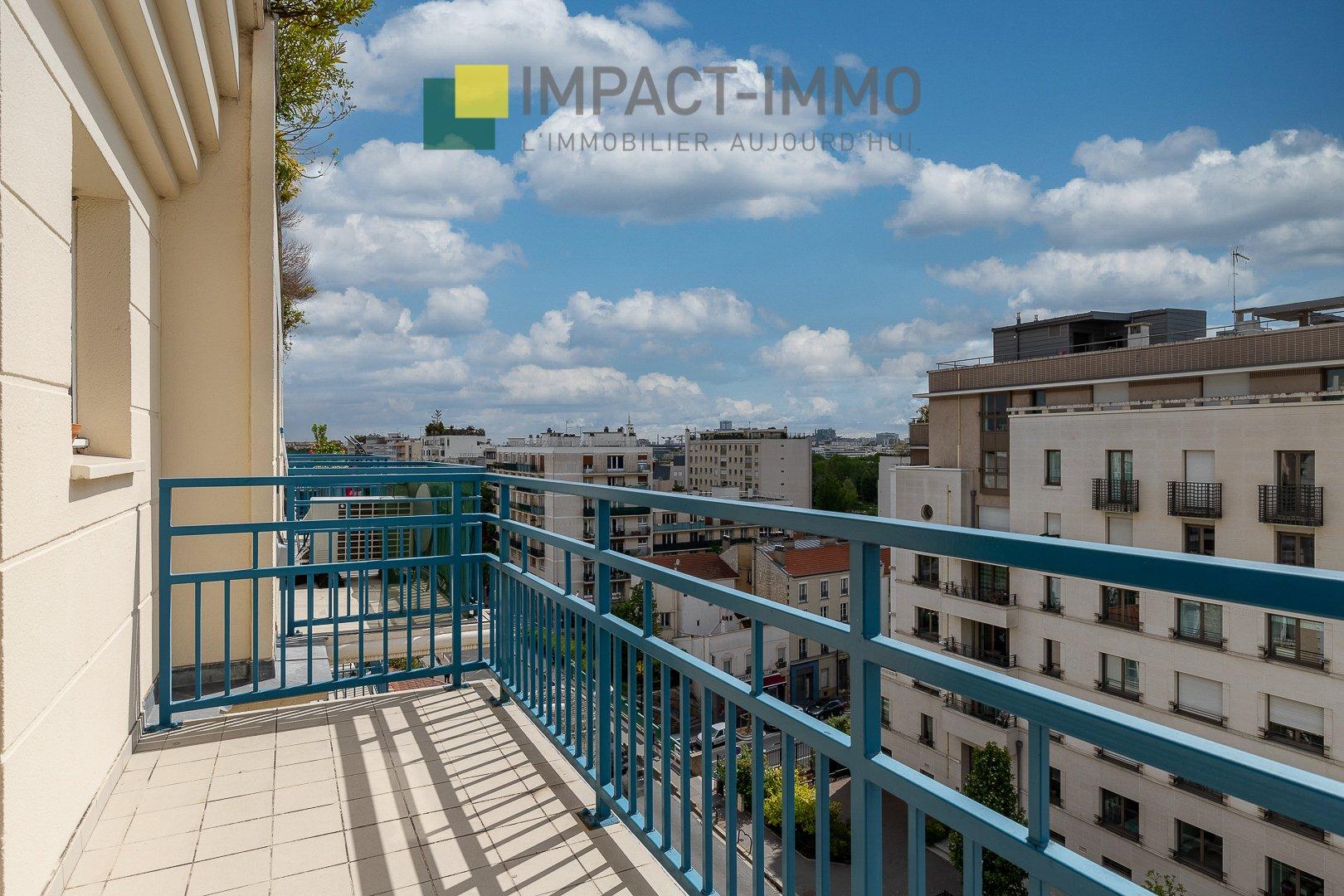 Appartement 3 pièces balcon vue monument