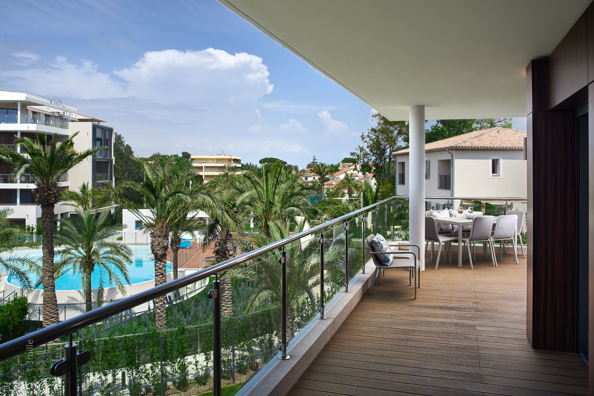 CAP D'ANTIBES -  New 2 bedroom apartement of 93m2 with large terraces in exceptional résidence