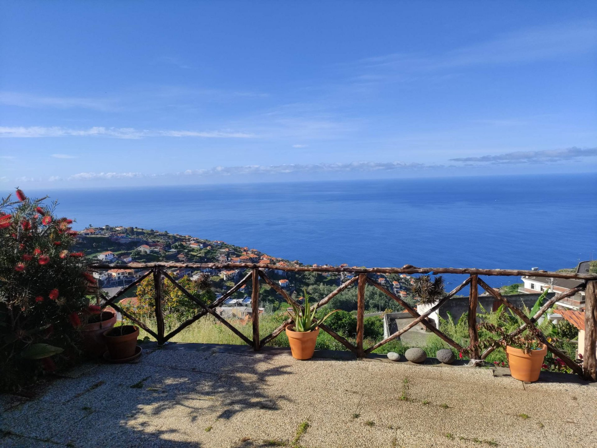 Recent house with panoramic views of the ocean.