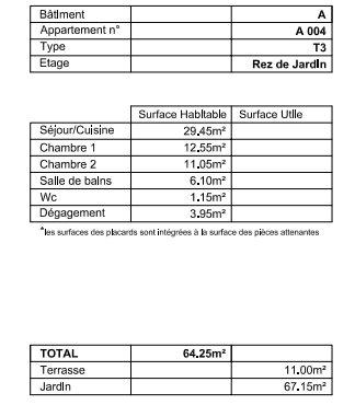 PONT DE BEAUVOISIN F3 NEUF